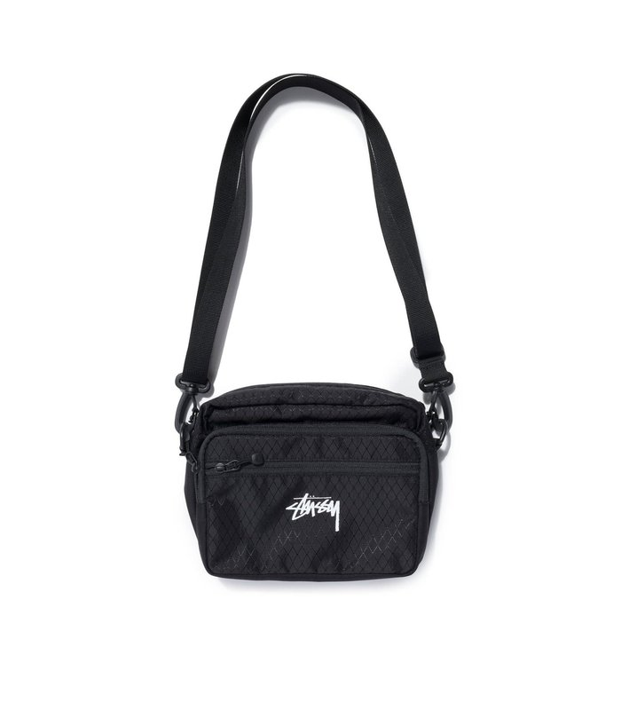 DIAMOND RIPSTOP SHOULDER BAG BLACK