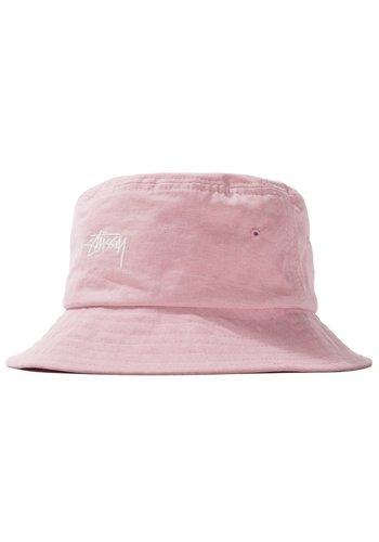 STUSSY stock canvas bucket hat pink