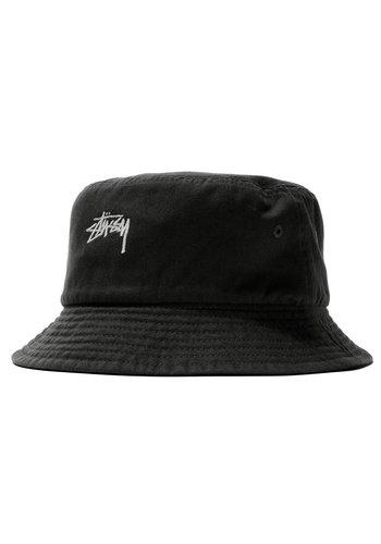 STUSSY stock canvas bucket hat black