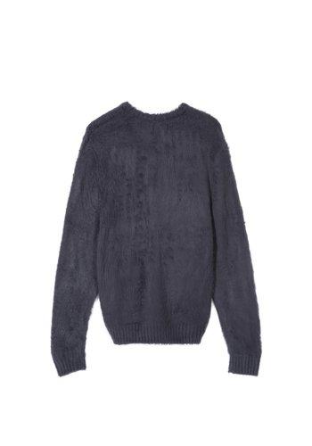 STUSSY brushed sweater navy