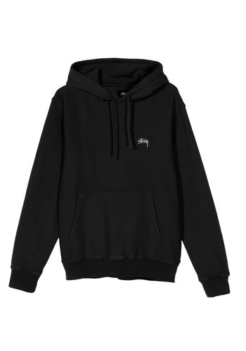 STUSSY stock logo hood black