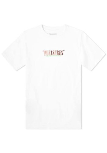 PLEASURES satisfaction guaranteed t-shirt white