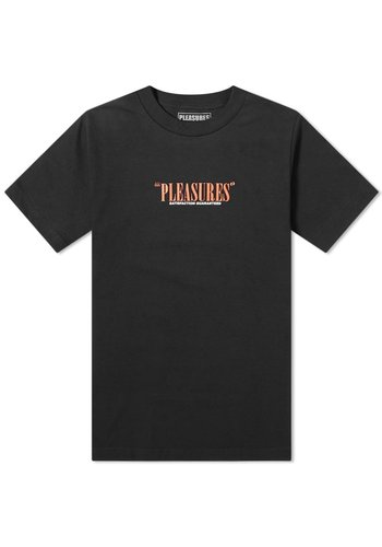 PLEASURES satisfaction guaranteed t-shirt black