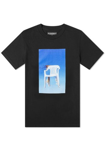 PLEASURES chair t-shirt black