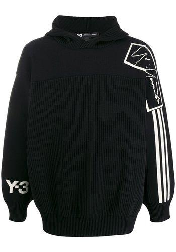 Y-3 tech knit hoodie black ecru