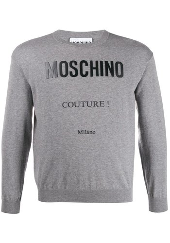 MOSCHINO sweater logo grey