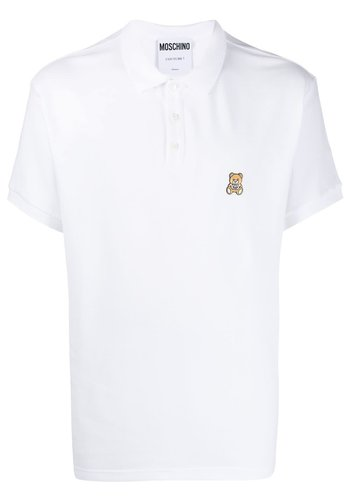 MOSCHINO polo fantasy print white