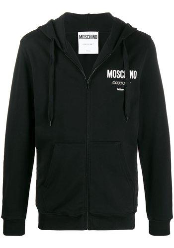 MOSCHINO zip hoodie black
