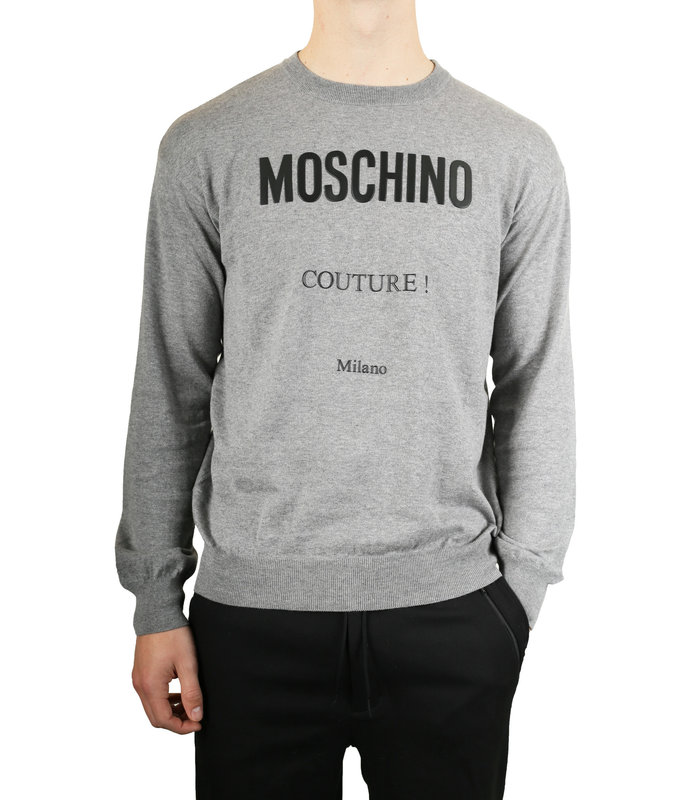 SWEATER LOGO GREY