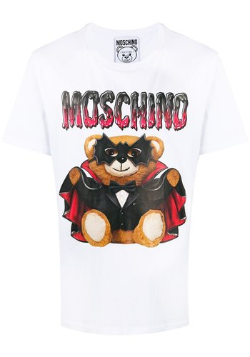 MOSCHINO t-shirt bat teddy bear fantasy white