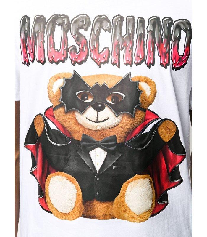 T-SHIRT BAT TEDDY BEAR FANTASY WHITE
