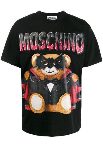 MOSCHINO t-shirt bat teddy bear fantasy black