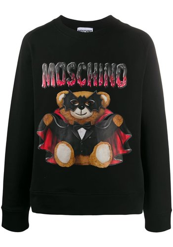 MOSCHINO sweater bat teddy bear fantasy black