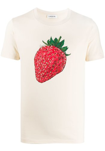 LANVIN t-shirt mc print strawberry