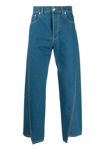 LANVIN washed denim twisted seam light blue