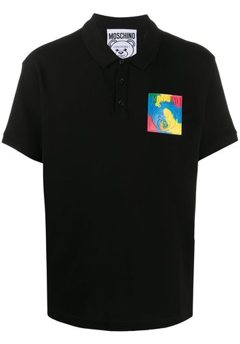 MOSCHINO polo bear fantasy print black