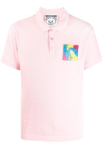 MOSCHINO polo bear fantasy print pink
