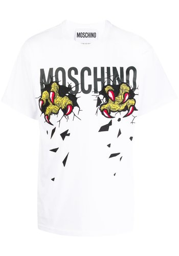 MOSCHINO t-shirt monsters fantasy print white