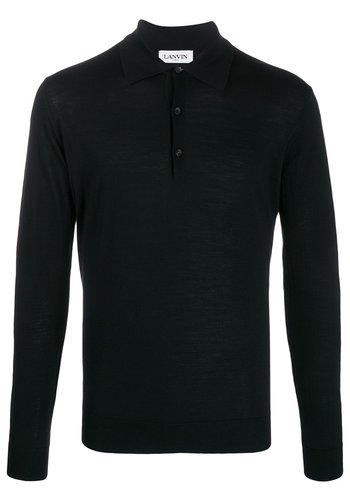 LANVIN wool polo black