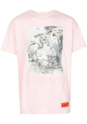 HERON PRESTON t-shirt reg heron birds pink multicolor