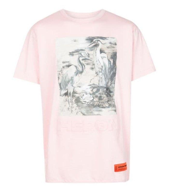 T-SHIRT REG HERON BIRDS PINK MULTICOLOR