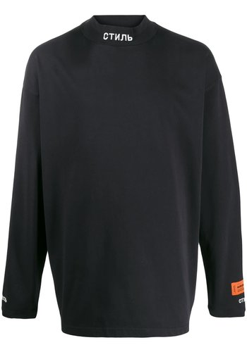 HERON PRESTON turtleneck стиль original black white