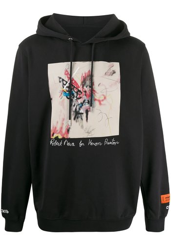 HERON PRESTON hoodie ribs robert nava black multicolor
