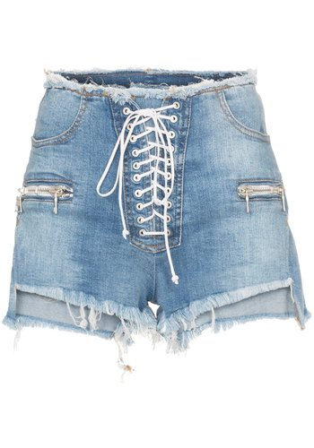 UNRAVEL PROJECT stonewash dnm r/w lace up sho indigo stone