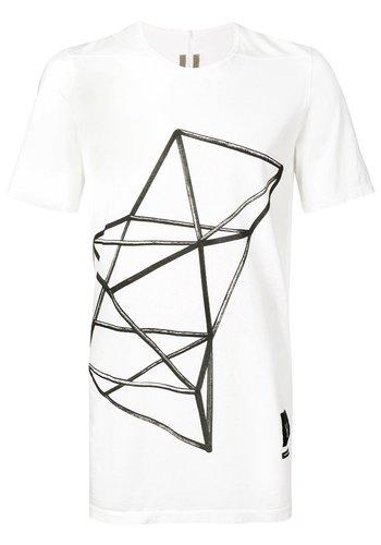 RICK OWENS DRKSHDW geometric print t-shirt milk
