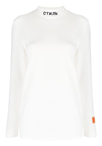 HERON PRESTON t-shirt ls turtl стиль white black