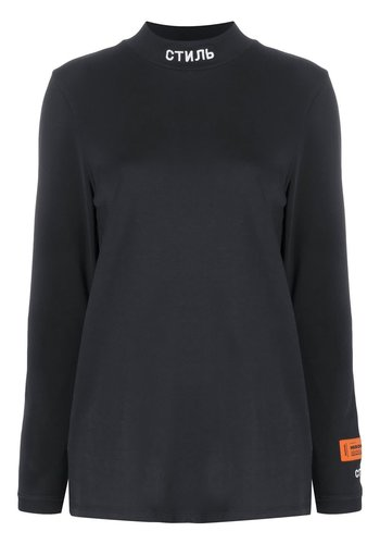 HERON PRESTON t-shirt ls turtl стиль black white