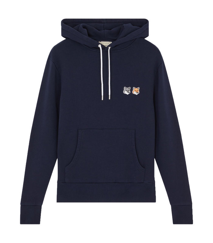 DOUBLE FOX HEAD PATCH HOODIE NAVY
