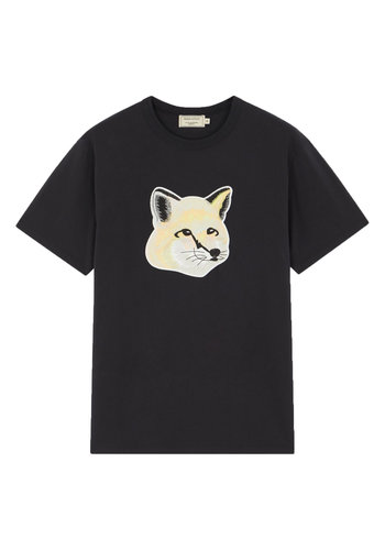 MAISON KITSUNE t-shirt pastel fox head black