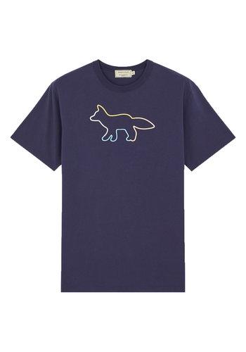 MAISON KITSUNE t-shirt rainbow profile fox navy
