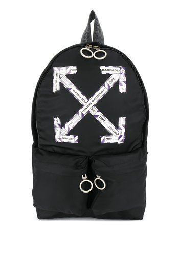 OFF-WHITE airport tape backpack black