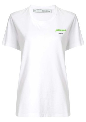 OFF-WHITE princess casual tee white light green