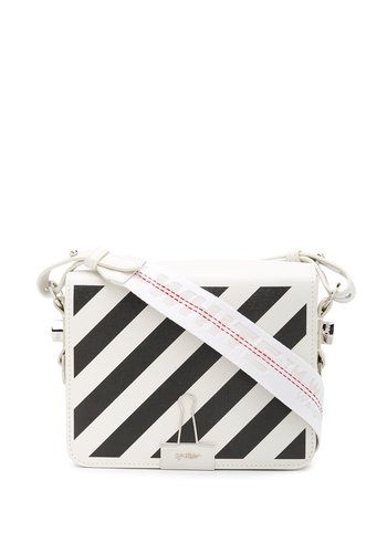 OFF-WHITE diag flap bag off white black