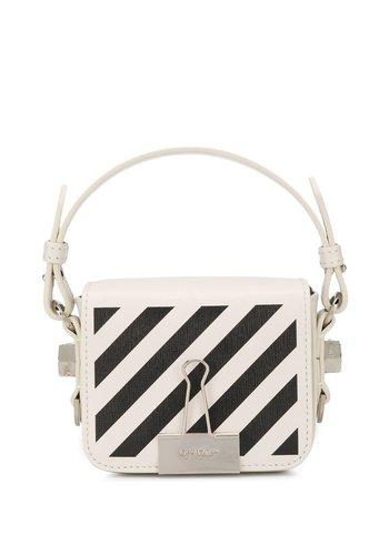 OFF-WHITE diag baby flap bag off white black