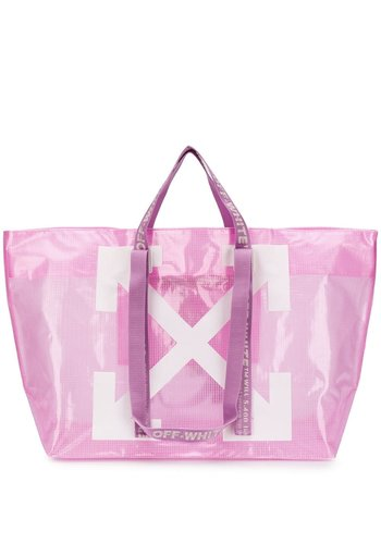 OFF-WHITE commercial tote pink white