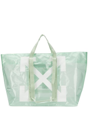 OFF-WHITE commercial tote light green white