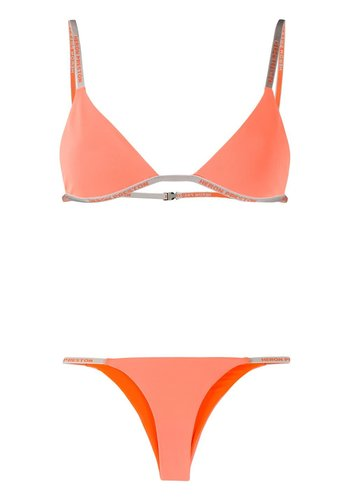 HERON PRESTON triangle bikini lycra net orange