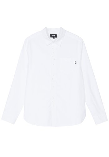 STUSSY crazy button oxford shirt white