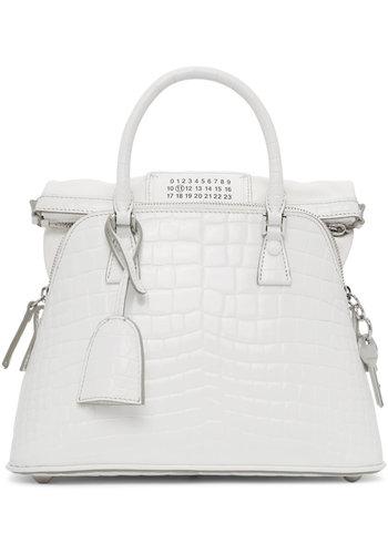 MAISON MARGIELA mini 5ac croc bag white