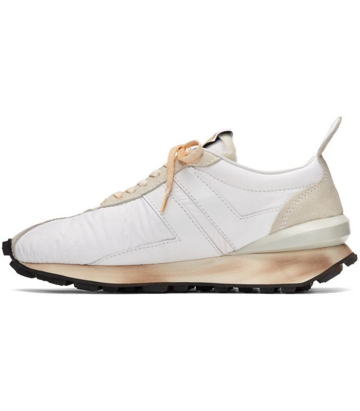 RUNNING SNEAKER IN NYLON NAPPA AND SUED SNEAKERS WHITE