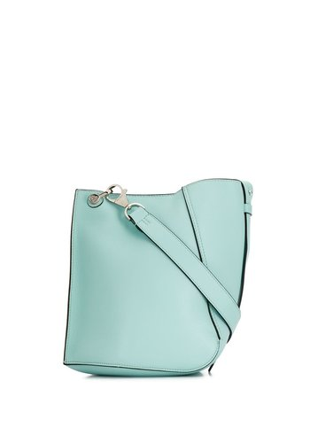 LANVIN asimmetrical small bucket bag blue