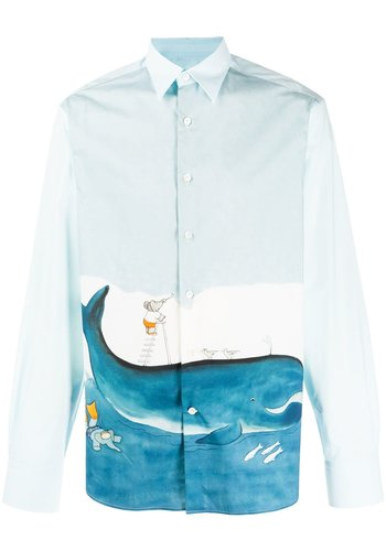 LANVIN straight shirt print babar diving