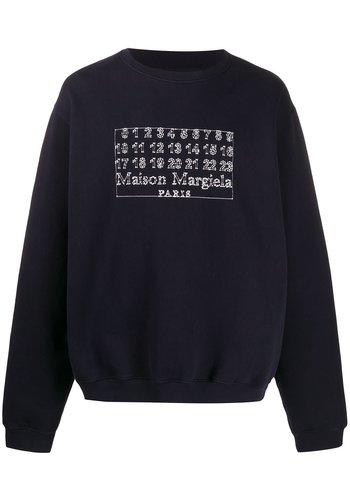 MAISON MARGIELA logo sweatshirt navy