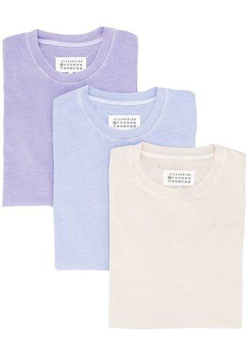 MAISON MARGIELA 3-pack t-shirts beige/purple