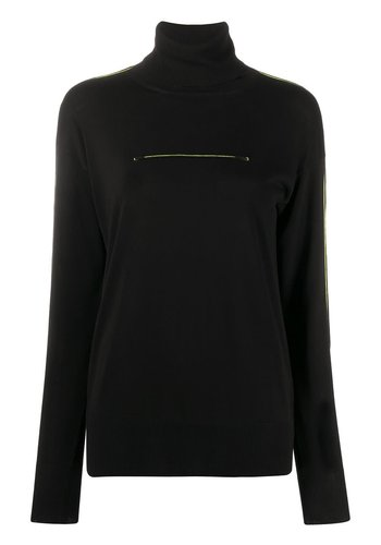 MM6 MAISON MARGIELA turtleneck black neon