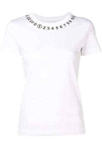 MAISON MARGIELA logo tee white
